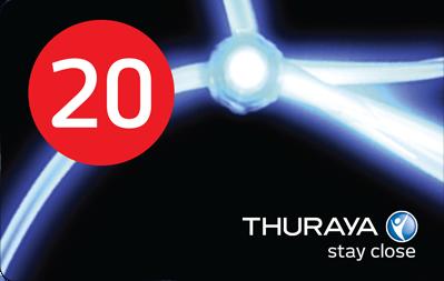 Thuraya Prepaid Voucher 20