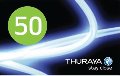 Thuraya Prepaid Voucher 50