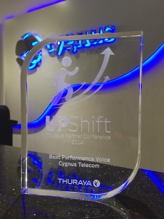 Cygnus Telecom Award - Best Service Partner Voice 2014