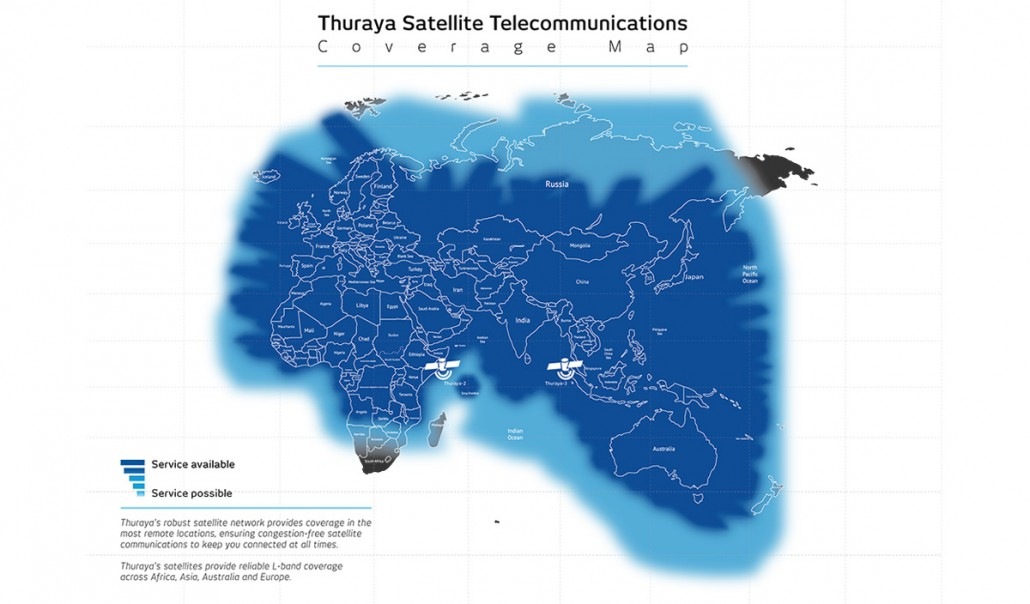 Thuraya Coverage Map